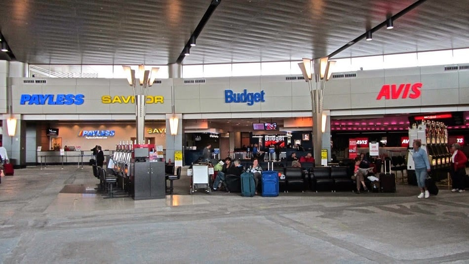 Locadoras de carro em aeroporto
