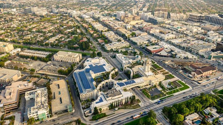 Região de Beverly Hills em Los Angeles