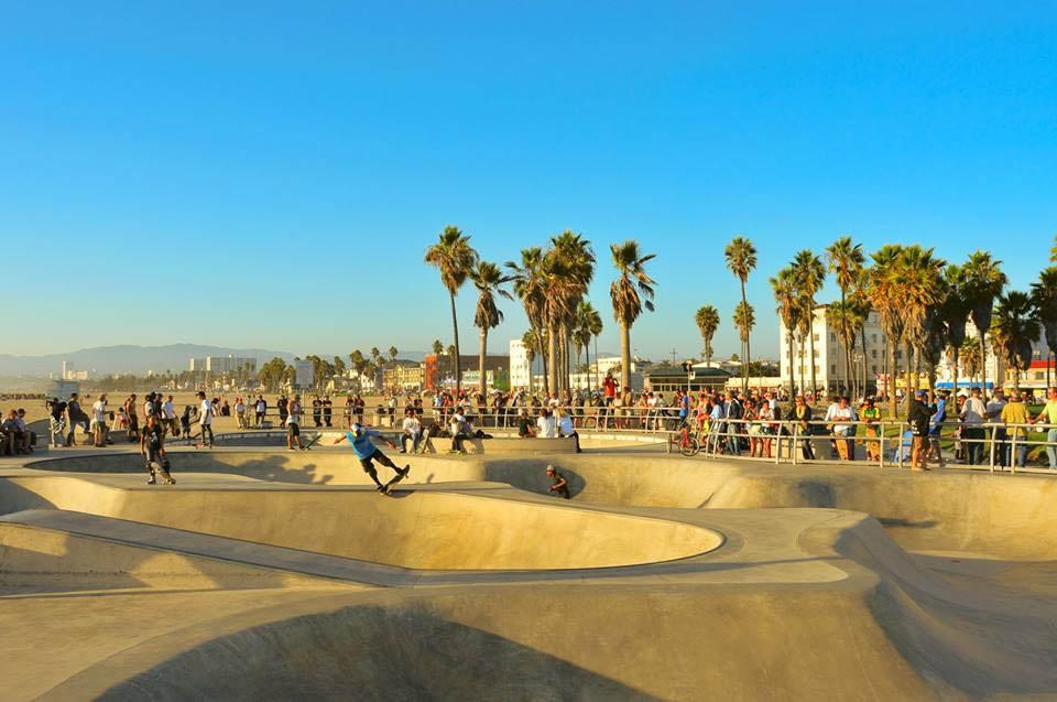 Fuso horário da Califórnia - Venice Beach Los Angeles