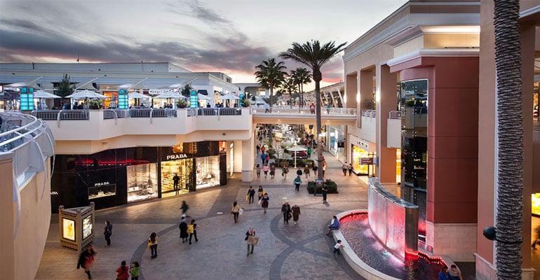 Compras nos shoppings em San Diego