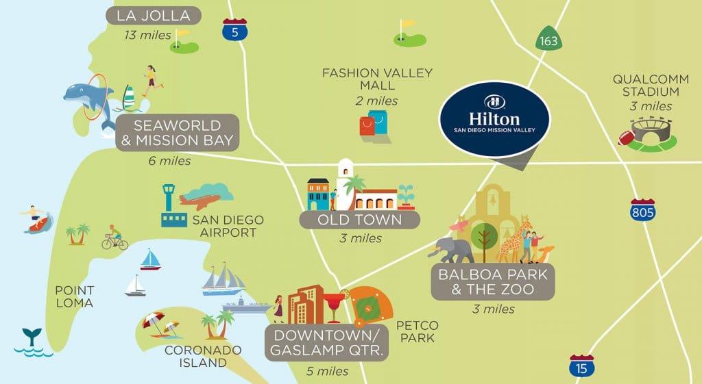 Informações sobre o parque SeaWorld em San Diego
