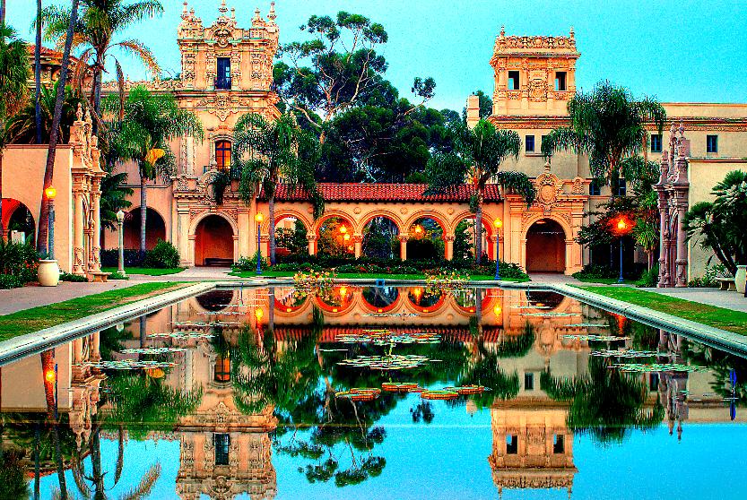 Parque Balboa Park em San Diego
