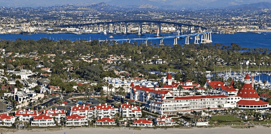Como chegar na Coronado Island em San Diego