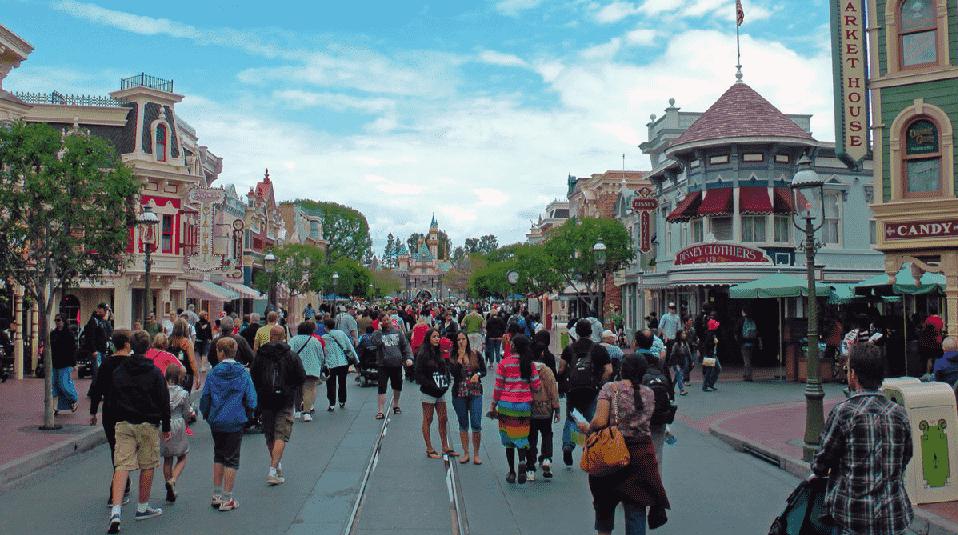 Atrações no Parque Disneyland na Califórnia