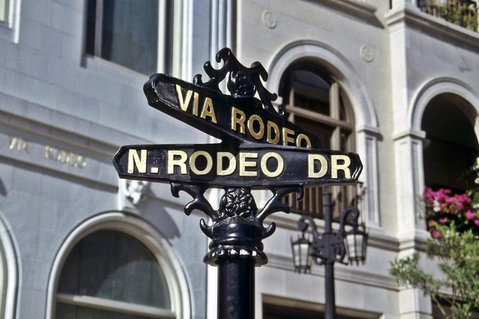 Estrutura da rua Rodeo Drive em Los Angeles