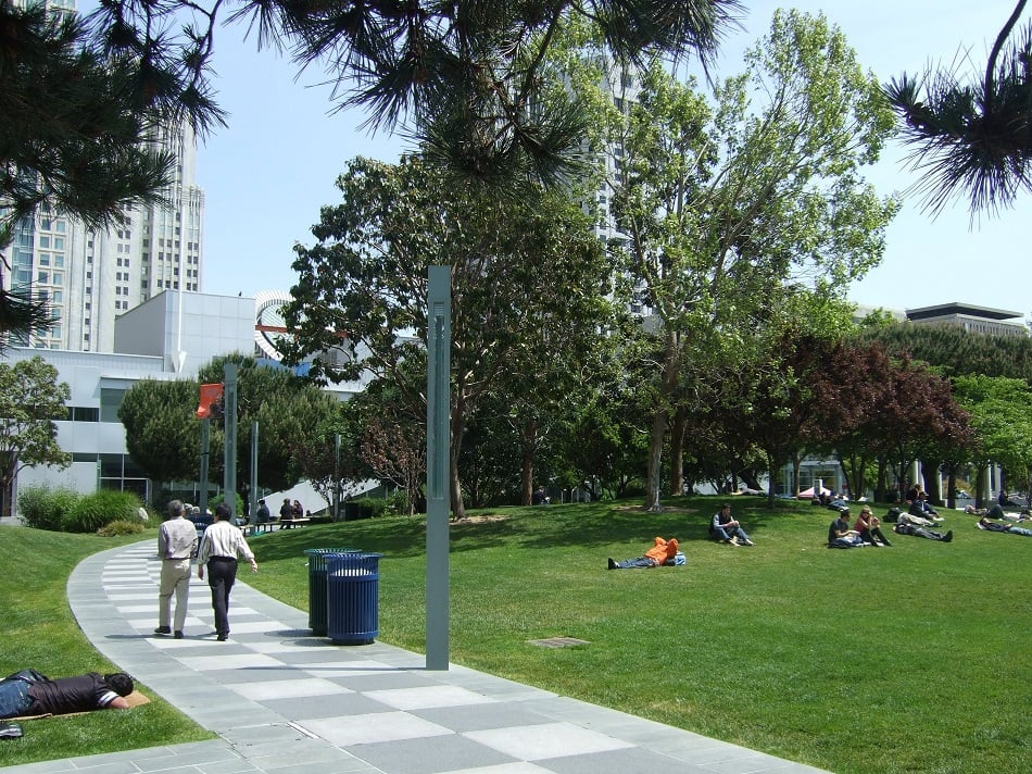 Como chegar ao Parque Yerba Buena Gardens em San Francisco
