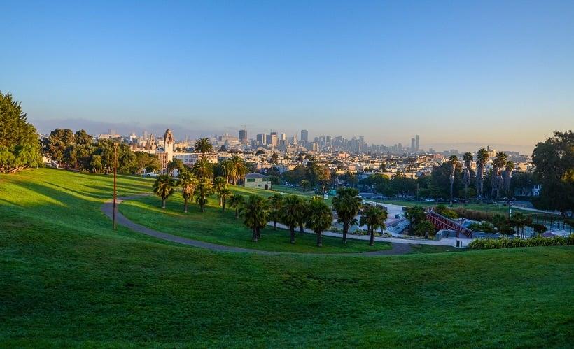 Região do Dolores Park em San Francisco
