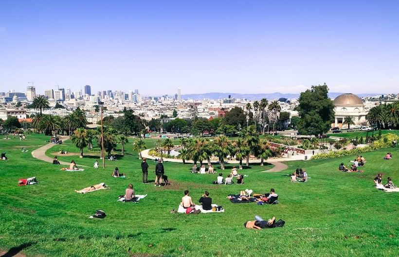 Atrações no Dolores Park em San Francisco