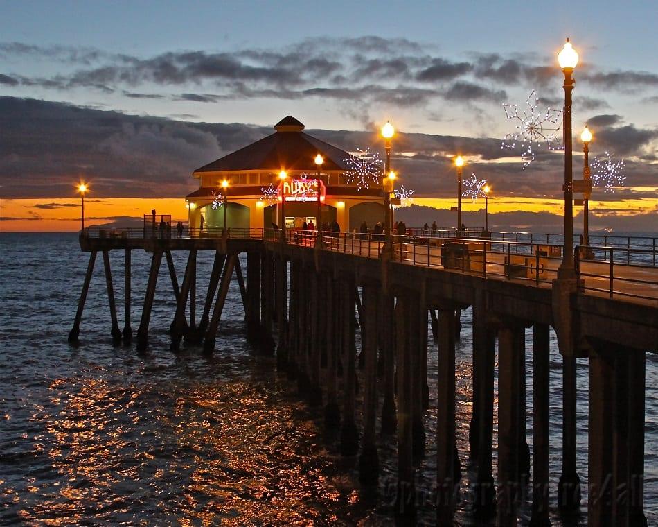 Praia de Huntington Beach na Califórnia