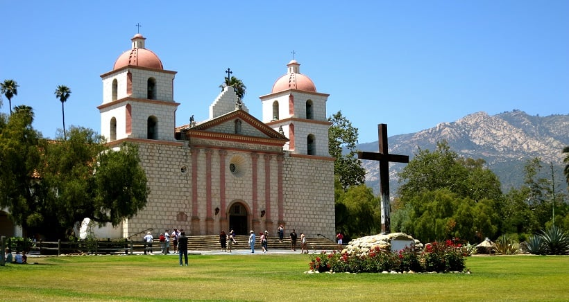 Old Mission Santa Bárbara em Santa Bárbara