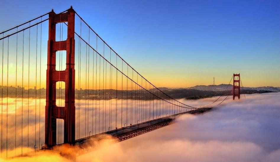Fotos da Ponte Golden Gate e de San Francisco