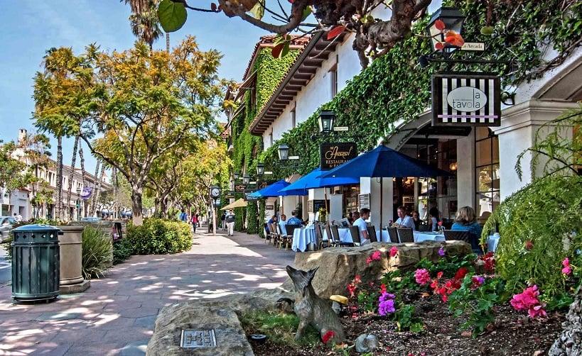 State Street em Santa Bárbara