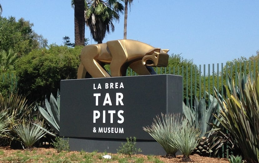 Sítio arqueológico La Brea Tar Pits em Los Angeles