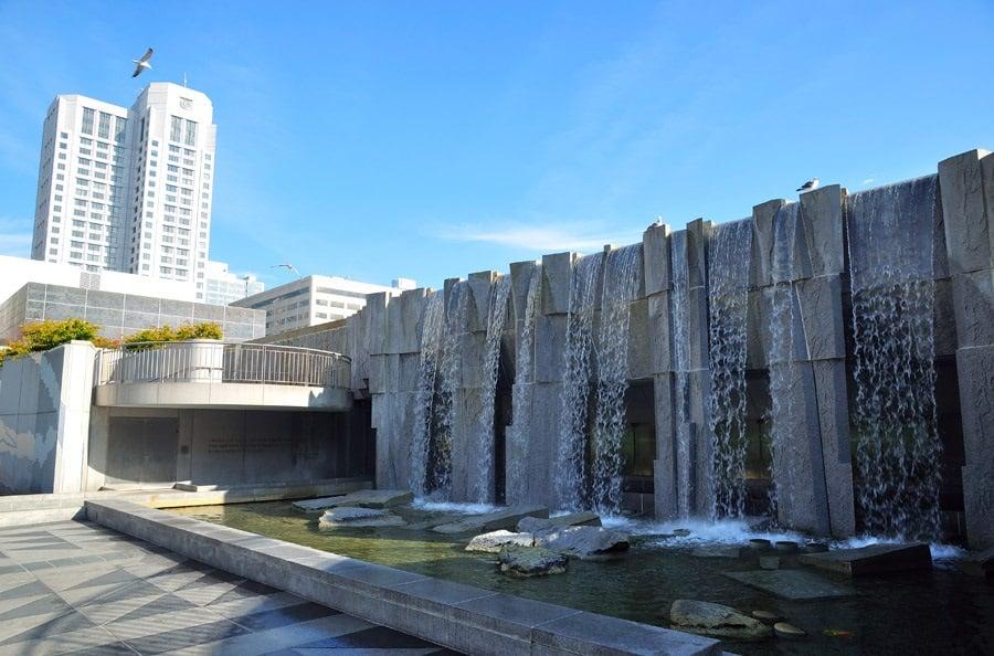 Atrações no Parque Yerba Buena Gardens em San Francisco