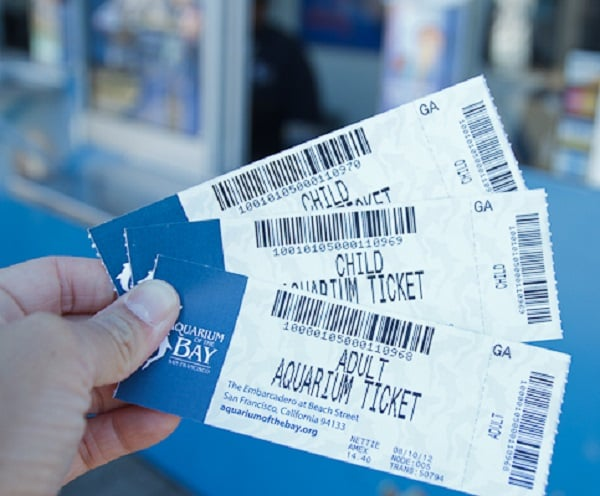 Ticket para o Aquarium of the Bay em San Francisco