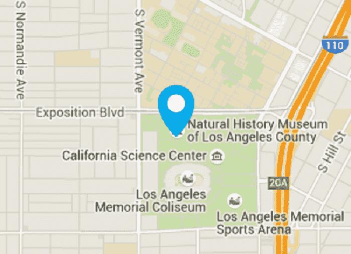 Informações sobre o Museu de História Natural de Los Angeles
