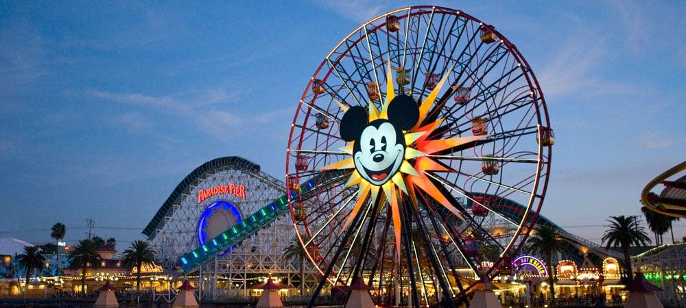 Parques da Disney espalhados pela Califórnia