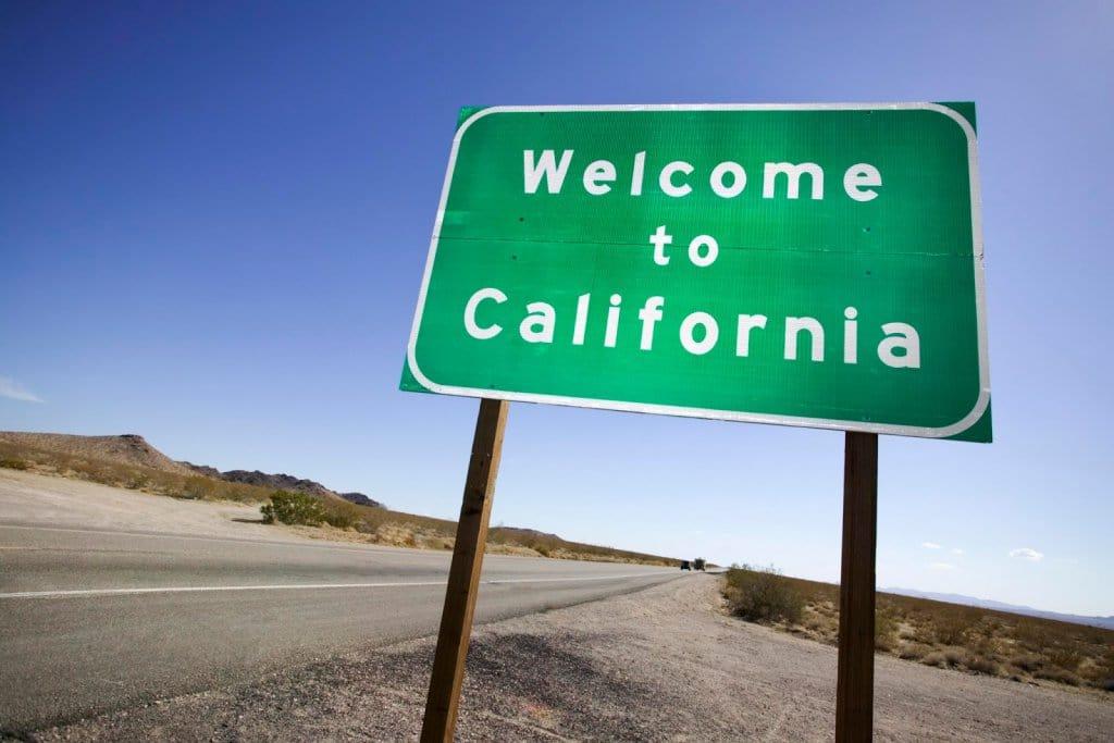 Placa de boas vindas em Los Angeles