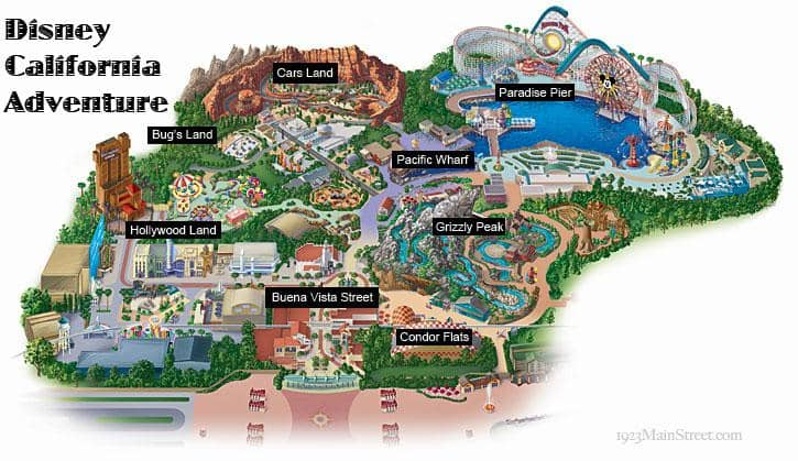 Mapa do Disney California Adventure