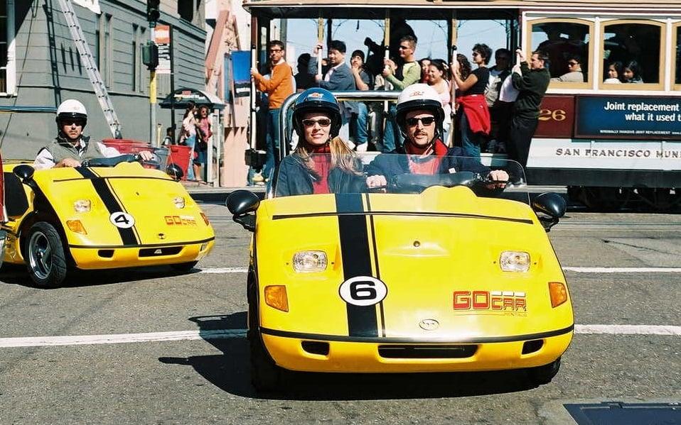Go Cars na rua Lombard Street
