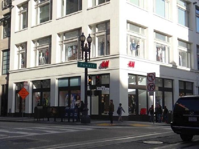 Lojas na Union Square na cidade de San Francisco