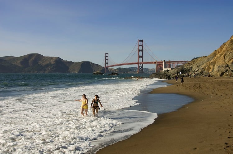 Baker Beach em San Francisco