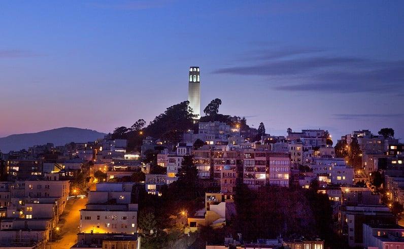 Coit Tower em San Francisco na Califórnia