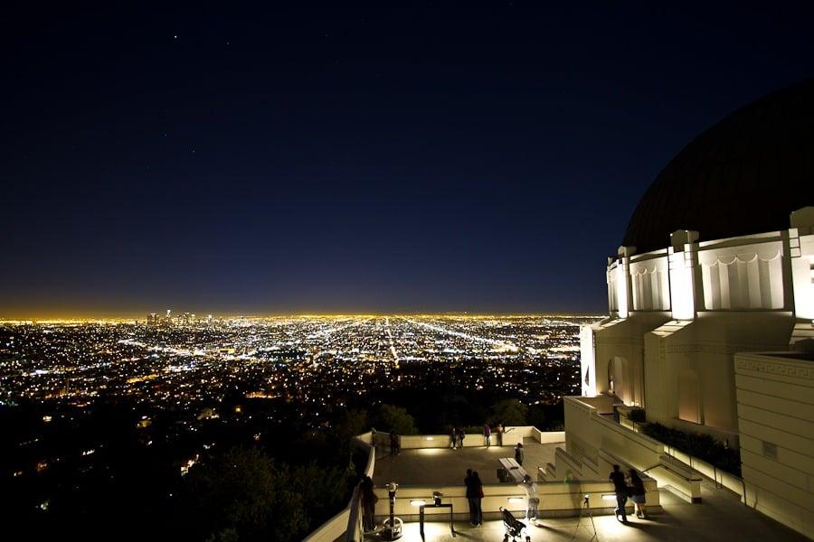 Vista panorâmica do Griffith Park em Los Angeles