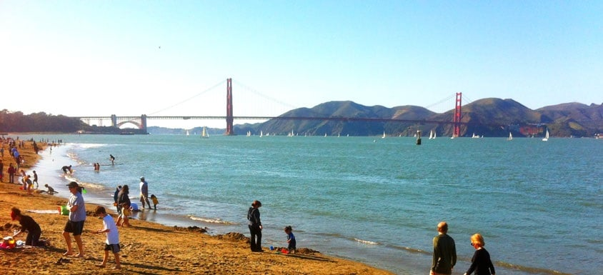 Crissy Field Beach em San Francisco