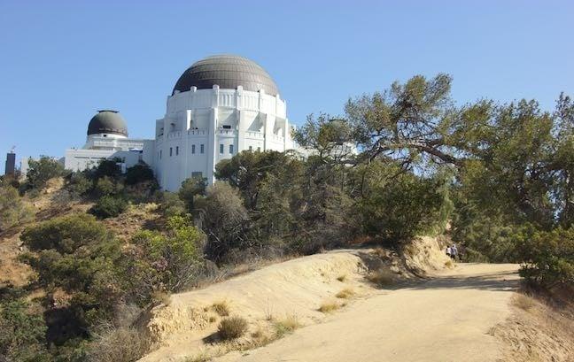 Trilhas no Observatório Griffith Park em Los Angeles