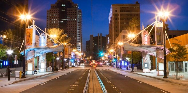 Pine Avenue em Long Beach