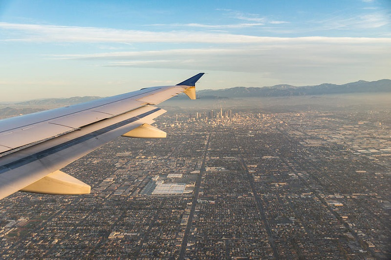 Tempo de viagem de avião até a Califórnia