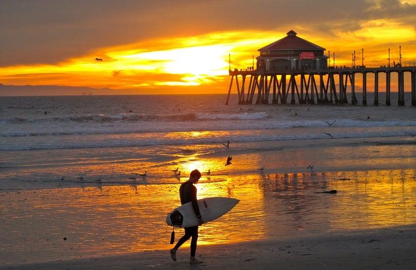 Praias específicas para surfar na Califórnia