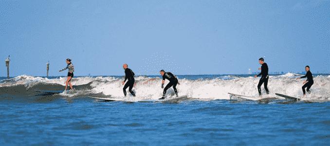 Praia Point Loma para surfar em San Diego