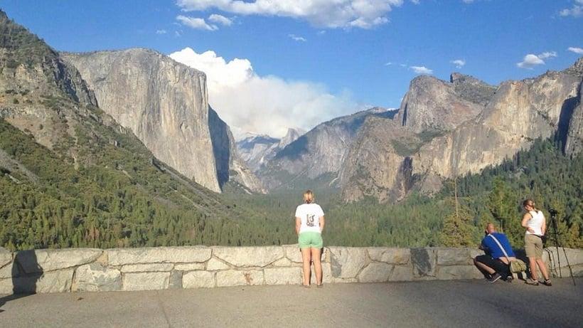 Cachoeiras em Yosemite na Califórnia