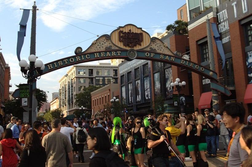 Entretenimento na Gaslamp Quarter em San Diego