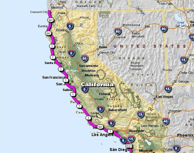 Roteiro em São Francisco, Highway 1, Los Angeles, San Diego e Las Vegas