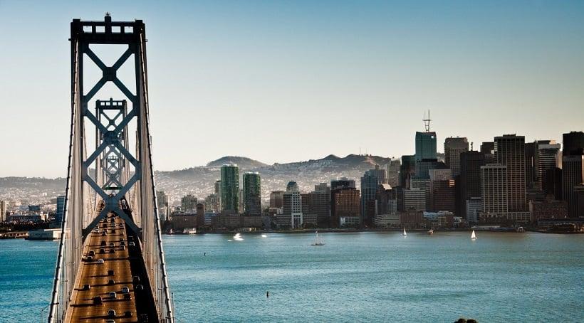 Praia de Oakland na Califórnia