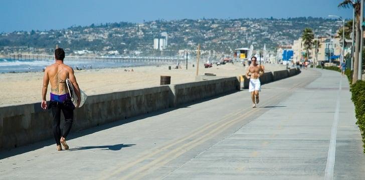 Pacific Beach em San Diego na Califórnia