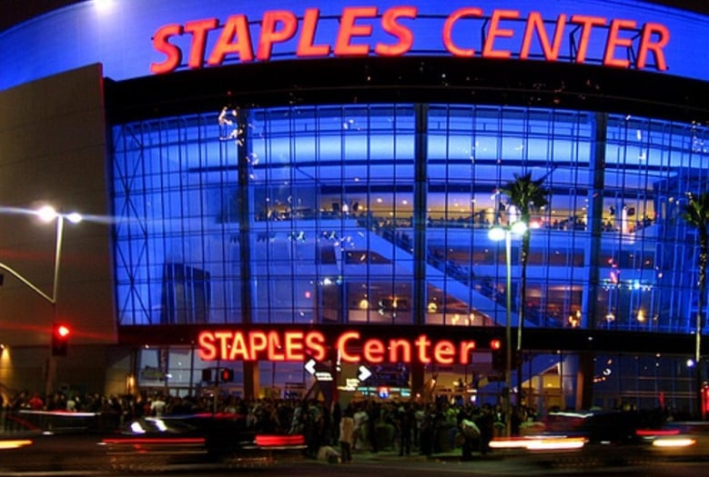 Staples Center Sports Arena em Downtown Los Angeles
