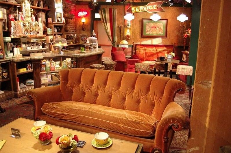 Cenários de séries nos Estudios da Warner Bros em Los Angeles