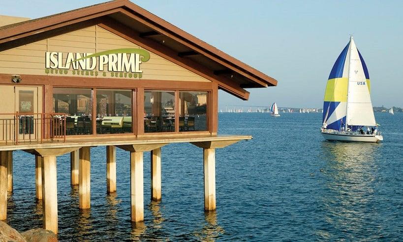 Island Prime Restaurant com vista para a cidade em San Diego