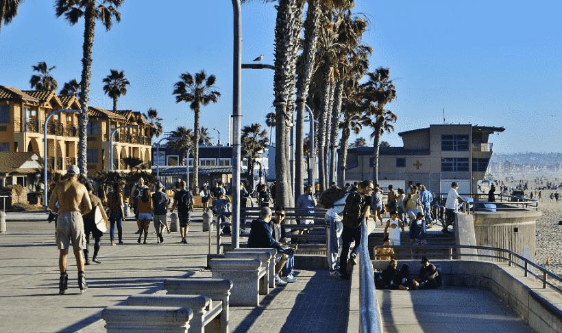 Atividades nas praias em San Diego