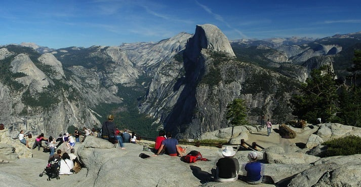 Glacier Point em Yosemite Valley