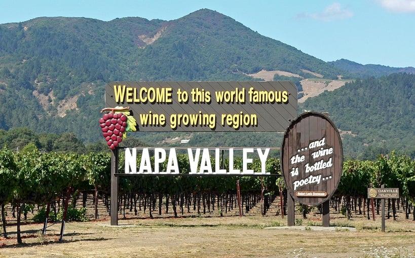Região de Napa Valley na Califórnia