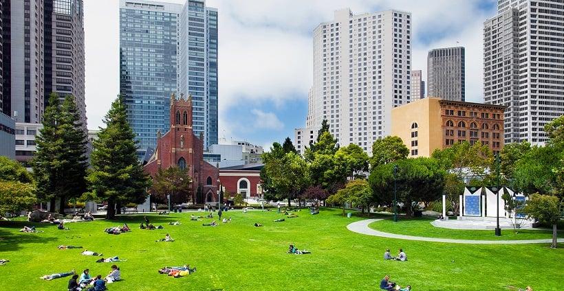 Parque Yerba Buena Gardens em San Francisco