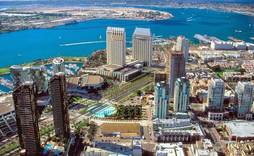 Cidade turística San Diego na Califórnia
