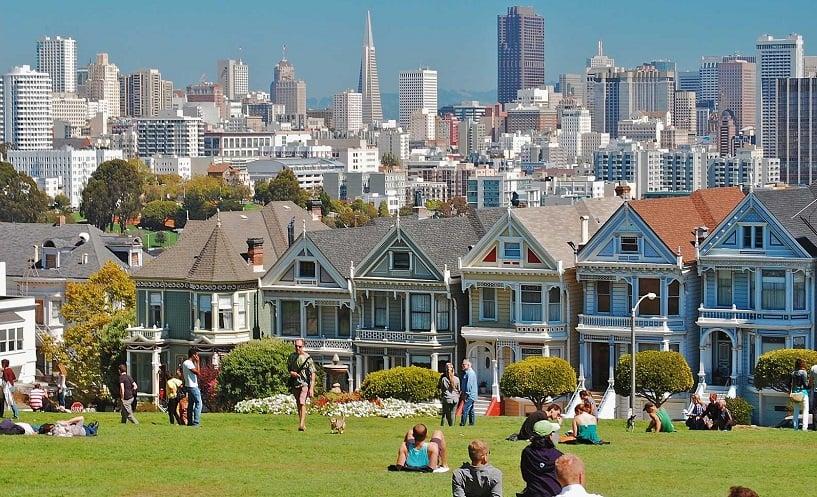 Álamo Square Park em San Francisco
