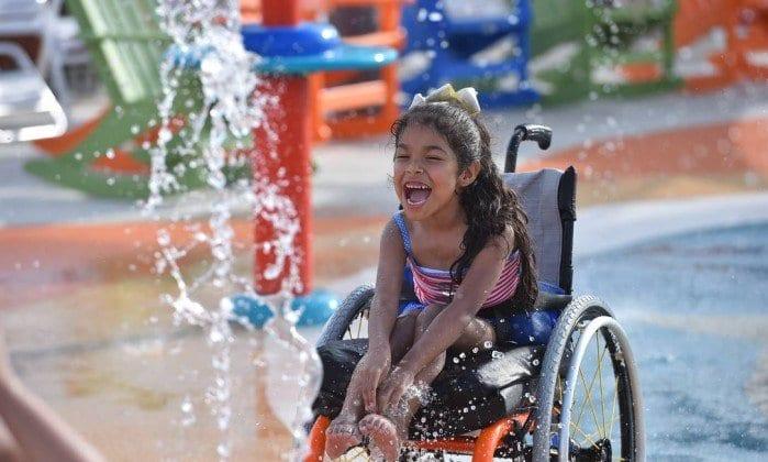 Deficientes físicos em parques na Califórnia