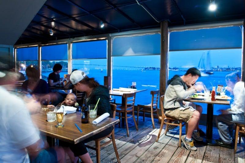 Restaurante San Diego Pier Café no Seaport Village em San Diego